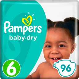 Pañales Desechables Pampers Baby Dry Talla 6 96 Unidades