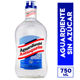 Antioqueño Aguardiente Sin Azucar Tapa Azul 750