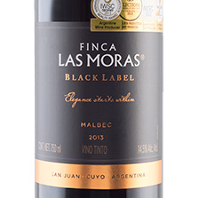 Botella de Vino Finca Las Moras Black Label 750ml