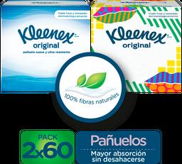 Pañuelos Faciales en Cubo Kleenex Original, 120 Uds