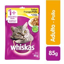 Whiskas comida húmeda pollo gato sobre 85g