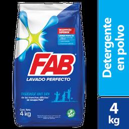 Detergente Fab Polvo Lavado Perfecto 4Kg