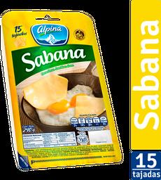 Queso Sabana 15 tajadas
