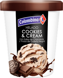 Helado Colombina Cookies & Cream 1/2