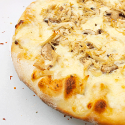 Pizza grande pollo y champiñones