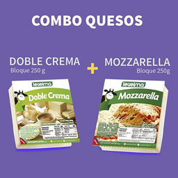 Combo queso doble crema y mozzarella