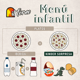 Menú Infantil   Pizzas