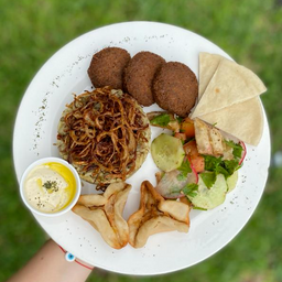 Almuerzo Árabe Vegetariano o Vegano