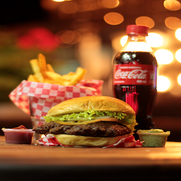 Combo Original Burger Hambuguesa+papitas +bebida 400ml 🍔🍟🥤