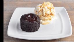 Volcan De Chocolate Con Helado