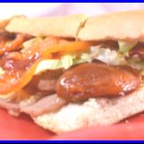 Sándwich con Chorizo y Tocineta