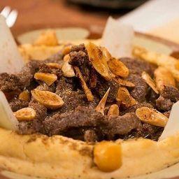 Tahine hummus especial de carne
