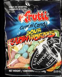 Gomas Sour Glowworms E.Frutti X100G