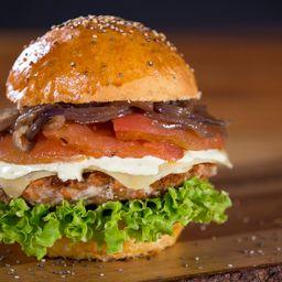 Combo hamburguesa de salmon