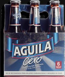 Cerveza Cero sin Alcohol Six Pack Águila
