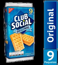 Galletas Saladas Club Social Sabor Original Paquete 234Gr