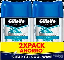 Gillette Desodorante Cool Wave Gel X 2