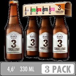 Cerveza Blanca 3 Cordilleras - Cerveza Artesanal 3 Pack 330 ml