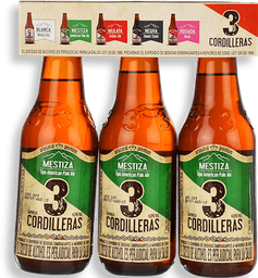 Cerveza Meztiza Tri Pack 3 Cordilleras