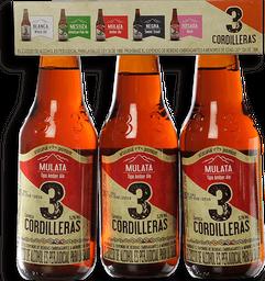 Cerveza Mulata Tri Pack 3 Cordilleras