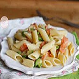 Pasta con Salmon e Zucchine