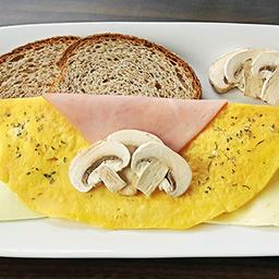 Omelette de Jamón, Queso y Champiñones
