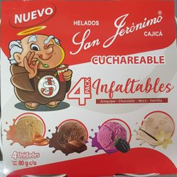 Helados Cuchareable Pack x 4
