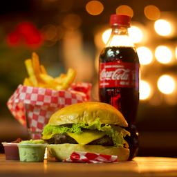 Combo Cheese Burger! hamburguesa + papitas+ bebida🍔🍟🥤