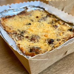 Lasagna rabo de toro