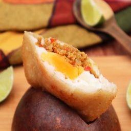 Arepa de Huevo y Carne