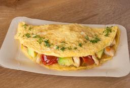 wrap de huevo con pollo