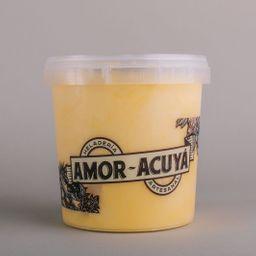 Mango-maracuyá vegano en pote