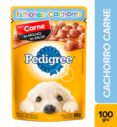 Pedigree comida húmeda carne perro cachorro sobre 100 g