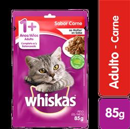 Whiskas comida húmeda carne gato sobre 85g