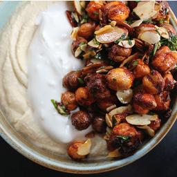 Hummus garbanzos crocantes