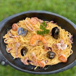 Pasta Mediterránea a la Marinera (Para Cuatro)