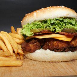 Combo Hamburguesa Chiken Crispy