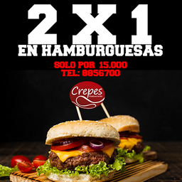 2x1 Hamburguesa Pollo y Carne