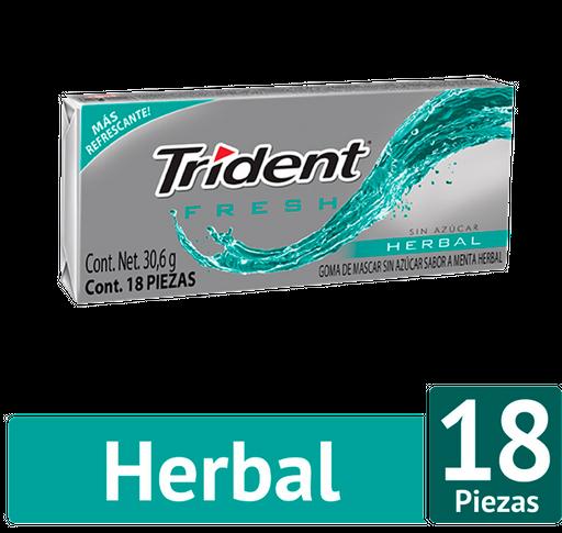 Trident Chicle Sin Azúcar Sabor Fresh Herbal Pack