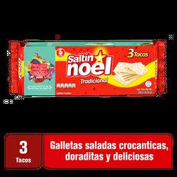 Saltín Noel Tradicional Galleta 3 Tacos