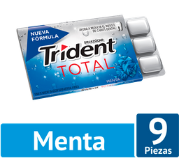 Trident Chicle Sin Azúcar Sabor Menta Pack