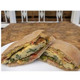 Sandwich con Tortilla (Espinaca)