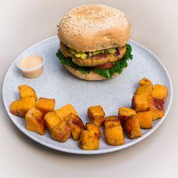 Salmon Avo Burger