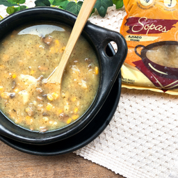 Ajiaco vegano - sopa congelada