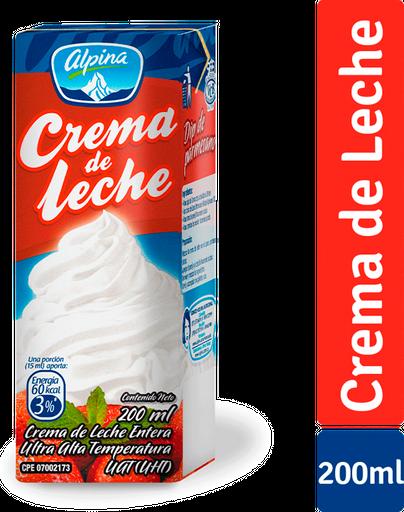 Crema De Leche Alpina  Caja X 200G