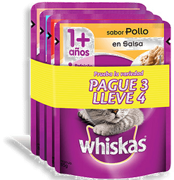 Whiskas A Pouch Pague 3 Lleve 4