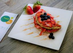 Waffle Integral Fresas y Arándonos