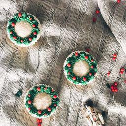 Cupcake de Vainilla de Navidad