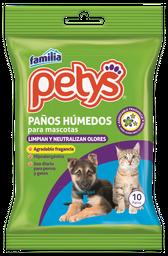 Paños Húmedos Petys Portable x 10 und