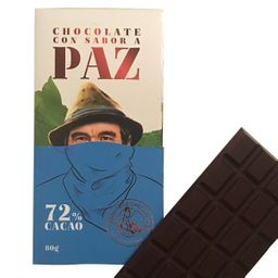 Barra Chocolate 72 % 80 Gr